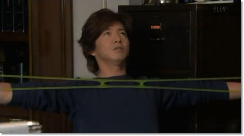 HERO・2014 第4話でキムタク使用のゴム製筋トレグッズは?